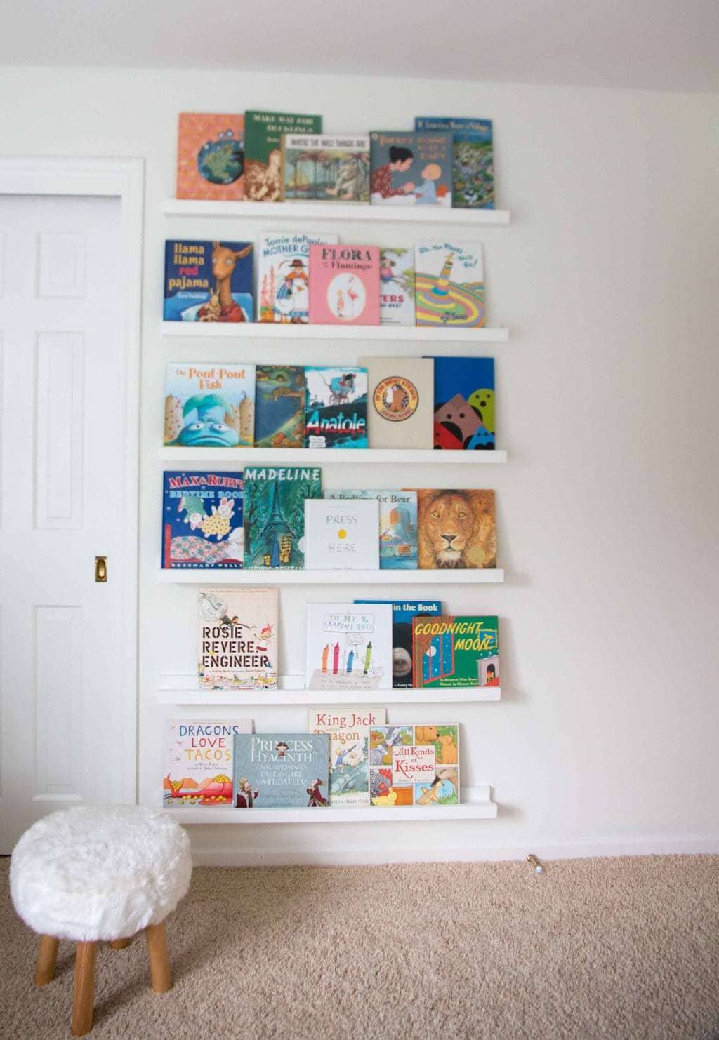 DIY book ledge bookcase nursery - DIY Book Ledge in Nursery by popular home decor blogger DIY Decor Mom