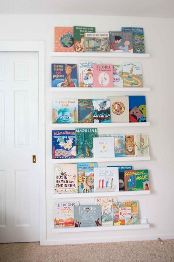 diy book ledge - DIY Book Ledge in Nursery by popular home decor blogger DIY Decor Mom