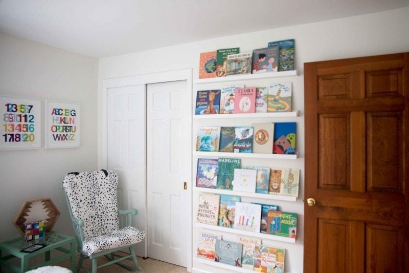 DIY Book Ledge in Nursery