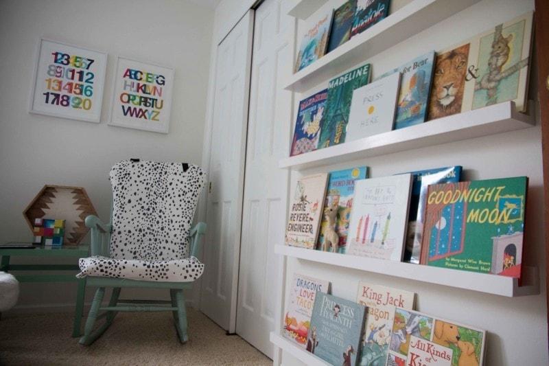 DIY Book Ledge in Nursery - DIY Book Ledge in Nursery by popular home decor blogger DIY Decor Mom