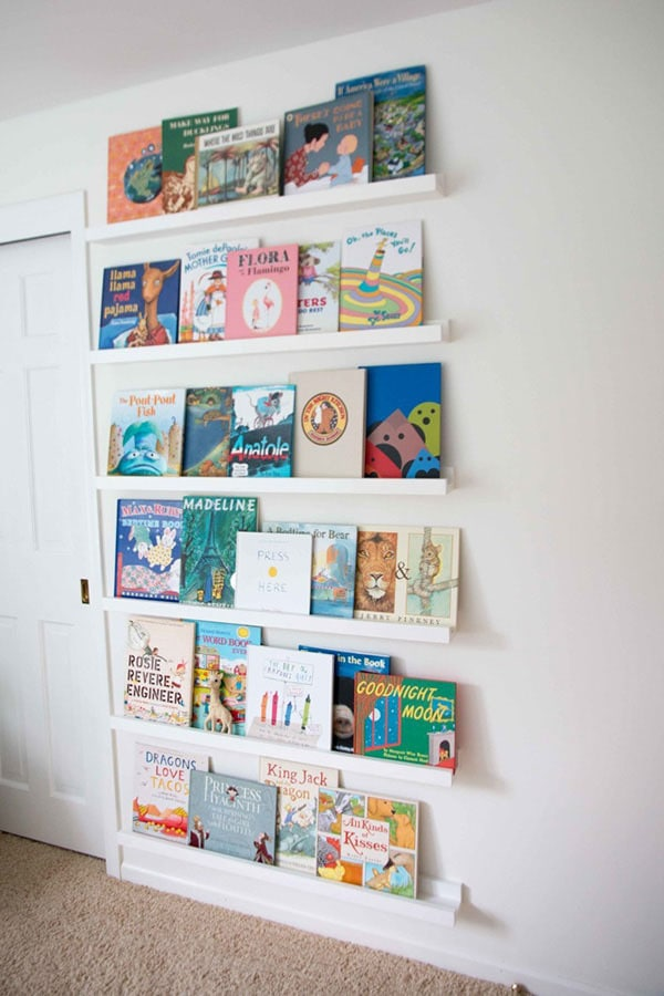 DIY Book Ledge in Nursery 4 - DIY Book Ledge in Nursery by popular home decor blogger DIY Decor Mom