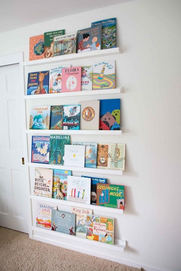 DIY Book Ledge in Nursery 4 - DIY Book Ledge in Nursery by popular home decor blogger DIY Decor Mom
