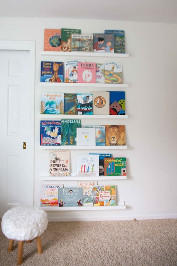 home organization tips for kids from DIY Decor Mom- love this bookcase! - Home Organization Tips for REAL Moms by popular home decor blogger DIY Decor Mom