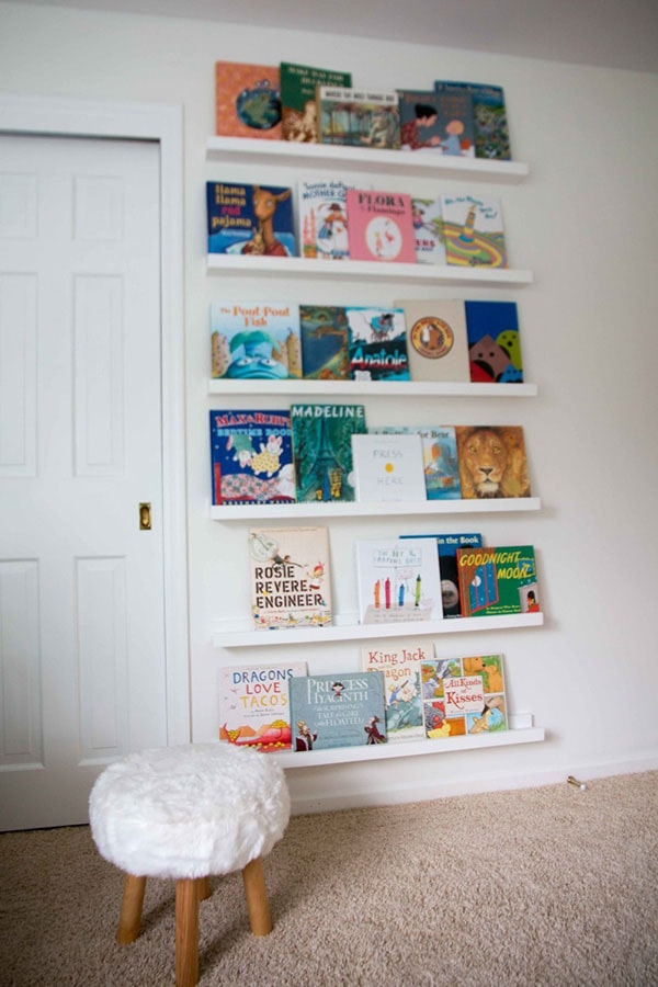 DIY Book Ledge in Nursery 6