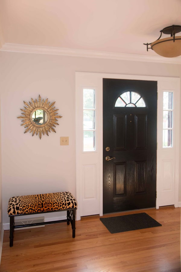 How To Paint Fiberglass Door and Oak Trim