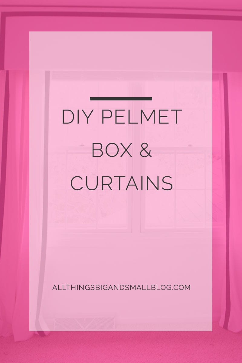 DIY pelmet box curtains