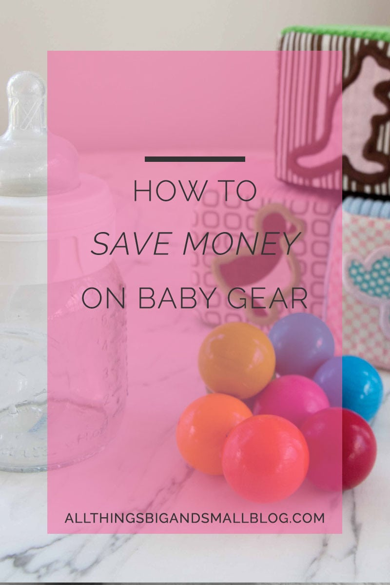 how to save money on baby gear