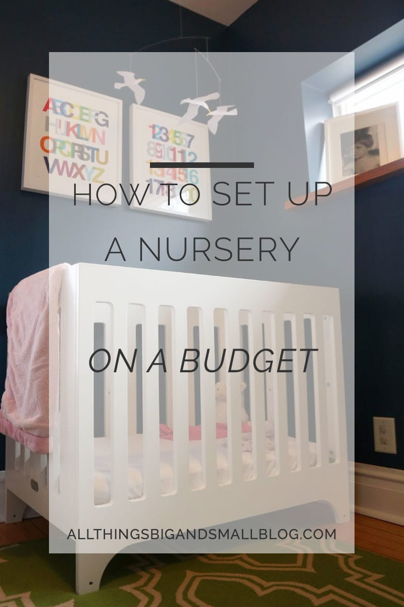 how to set up nursery on a budget