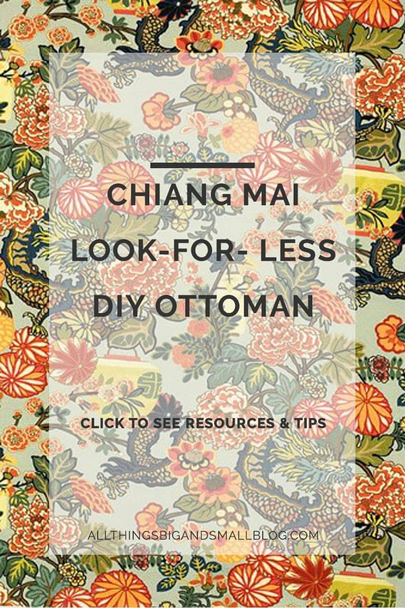 chiang mai look for less - Chiang Mai Look Alike DIY Ottoman by popular home decor blogger DIY Decor Mom