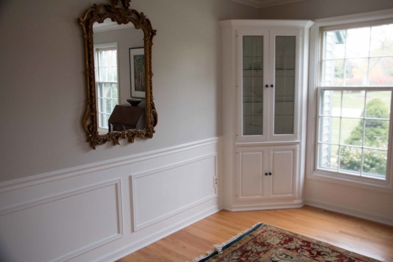 The Dining Room Before and After DIY Paneling & Paint