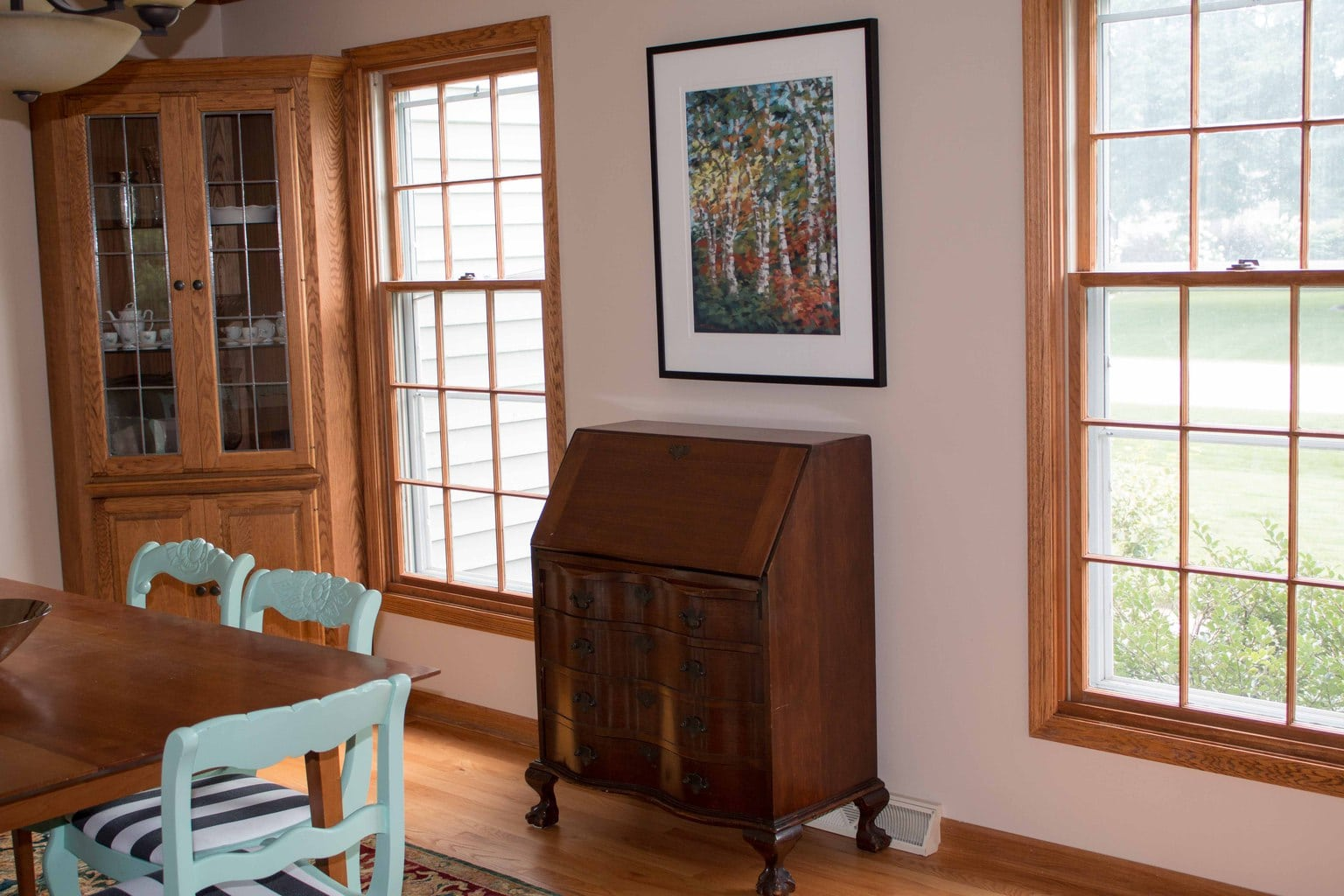 The Dining Room Before And After: DIY Paneling & Paint