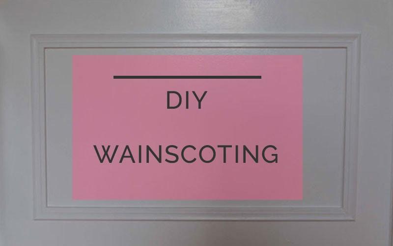 diy wainscoting