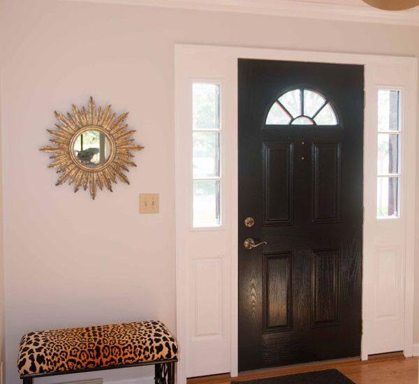 how to paint fiberglass door - How To Paint Fiberglass Door by home decor blogger DIY Decor Mom