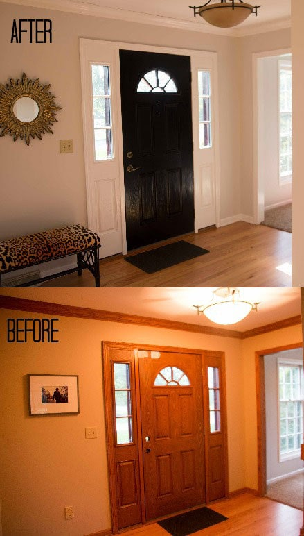 How to paint a fiberglass door for How to paint wood windows interior