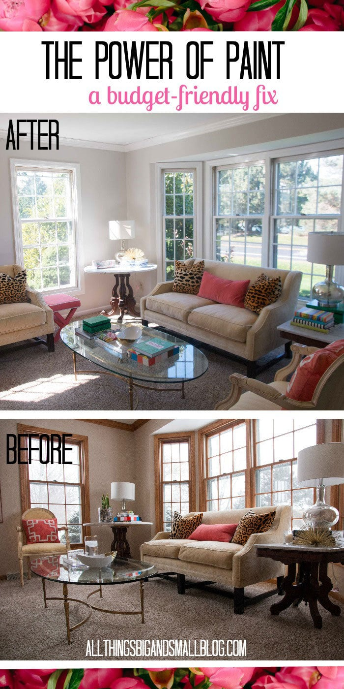 The Power Of Paint Living Room Before And After