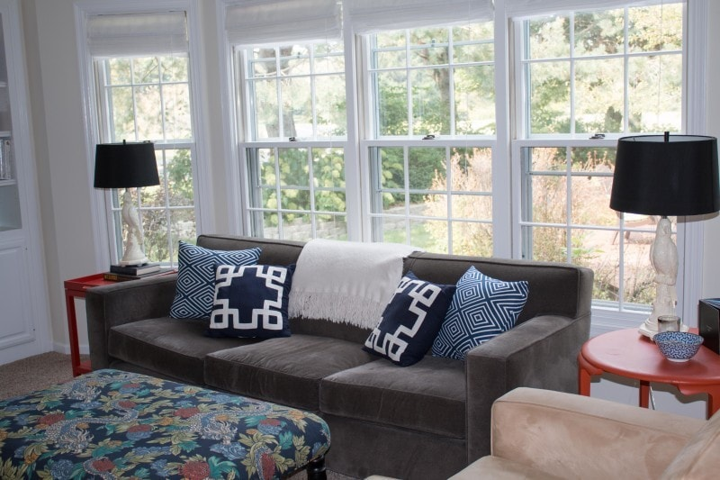 DIY Blue Geometric Pillows