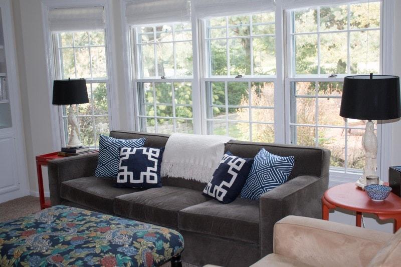 DIY Blue Geometric Pillows