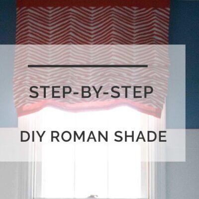 DIY roman shade