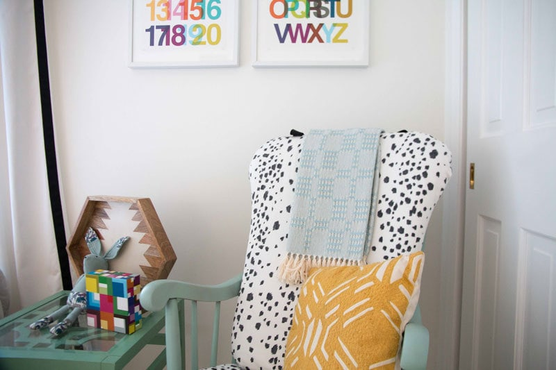 diy-upholstered-rocking-chair - How to Paint Furniture The Easy Way: A Step-by-Step Tutorial by home decor blogger DIY Decor Mom