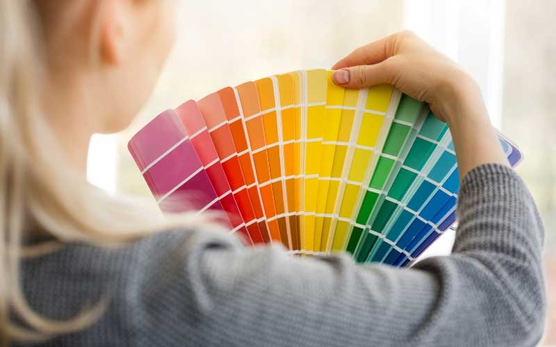 choosing paint colors for home from paint chips