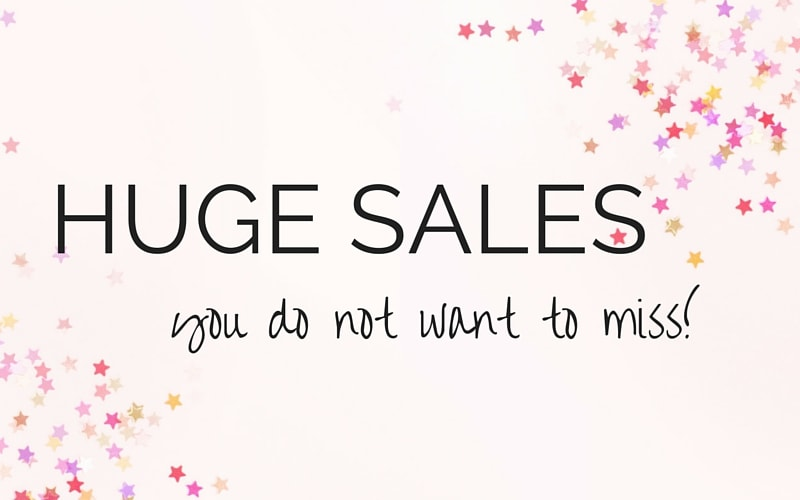 Sales You Don't Want to Miss