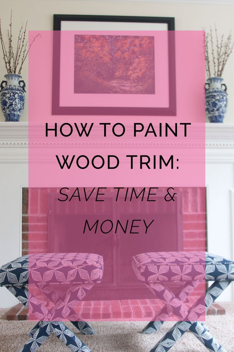 How to Paint Wood Trim! Save time and Money by reading this post. Learn the best tips and tricks and what to AVOID! More DIY tips and tricks for budget-friendly DIYers at All Things Big and Small Blog!