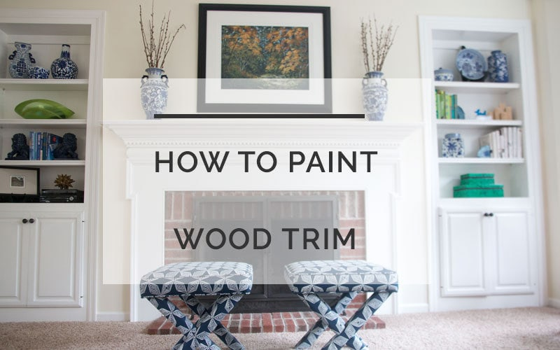 how to paint wood trim