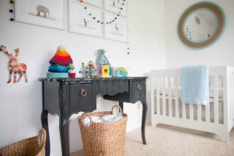 vintage changing table diy