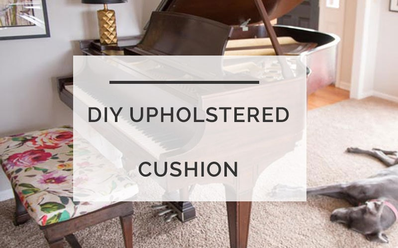 diy upholstered cushion
