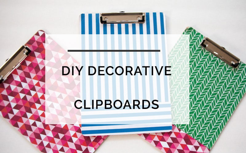 diy decorative clipboard