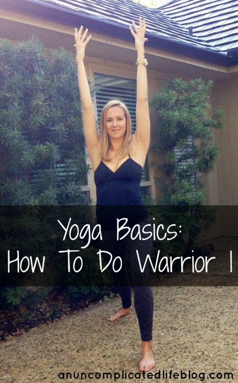 Yoga basics warrior 1
