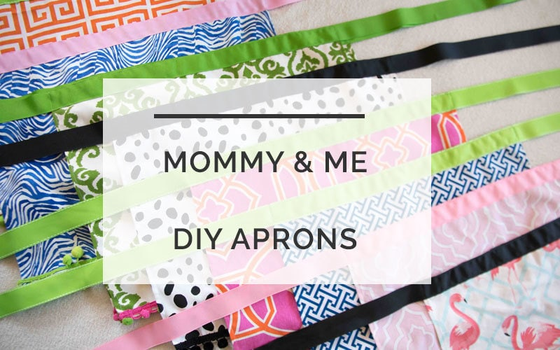 DIY Mommy and Me Aprons