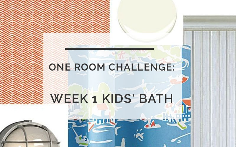 One Room Challenge- Kids Bath- All Things Big and Small Blog