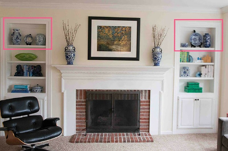 how to style bookcases 3