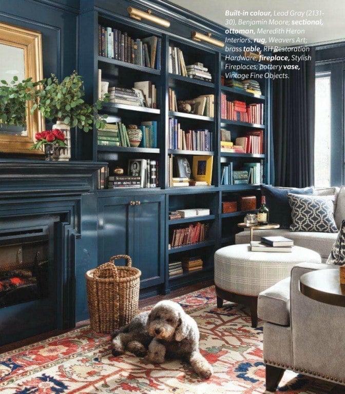 meredith heron blue library