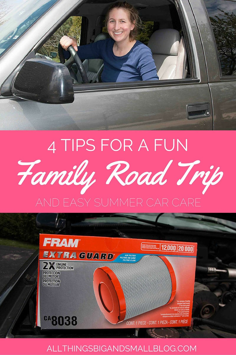 HOW-TO-HAVE-A-FUN-FAMILY-ROAD-TRIP- Tips & tricks for having a fun family road trip and preparing your car beforehand with annual #SummerCarCare #ad