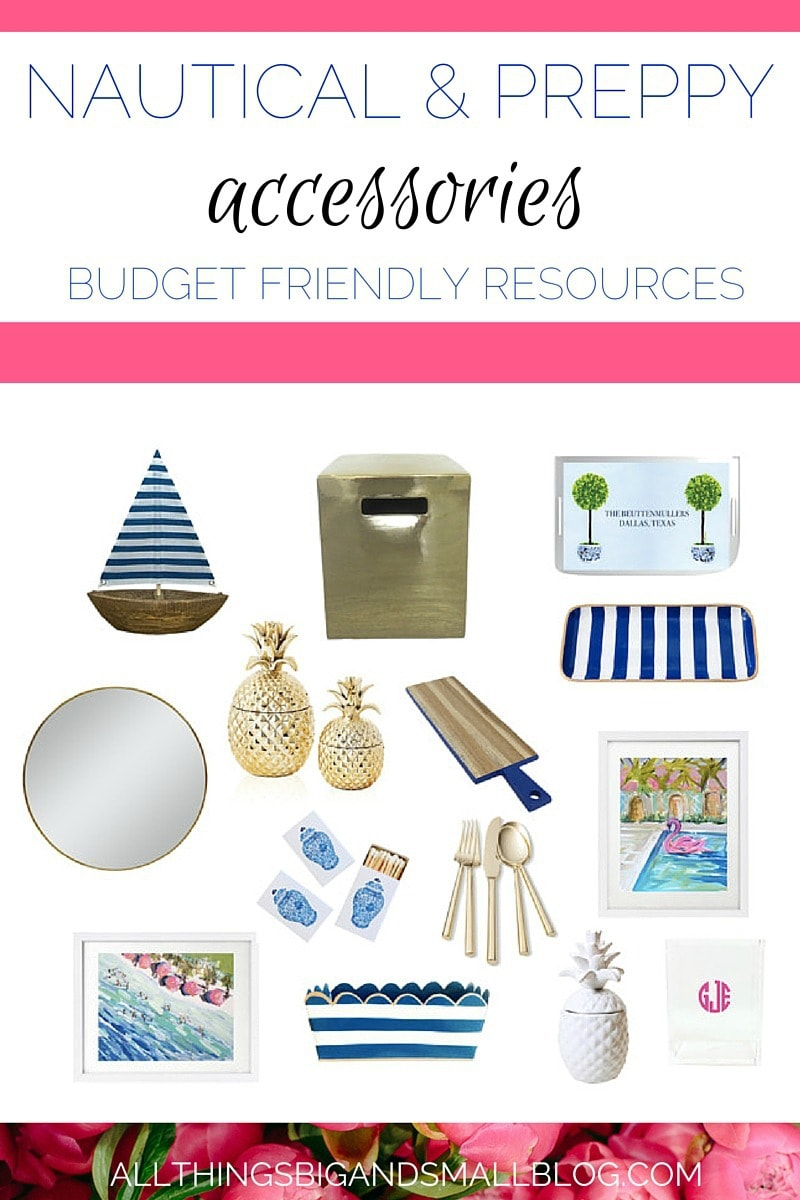 FAVORITE DECORATING RESOURCES- For budget-friendly preppy DIY projects and home inspiration go to All Things Big and Small Blog!
