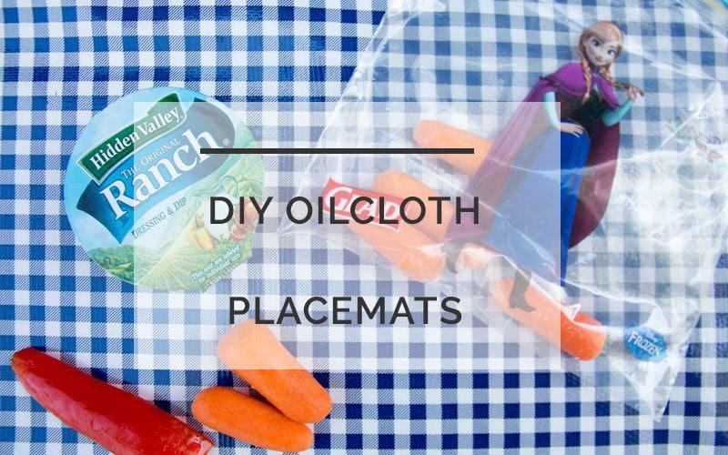 diy oilcloth placemat - DIY Oilcloth Placemats by home decor blogger DIY Decor Mom
