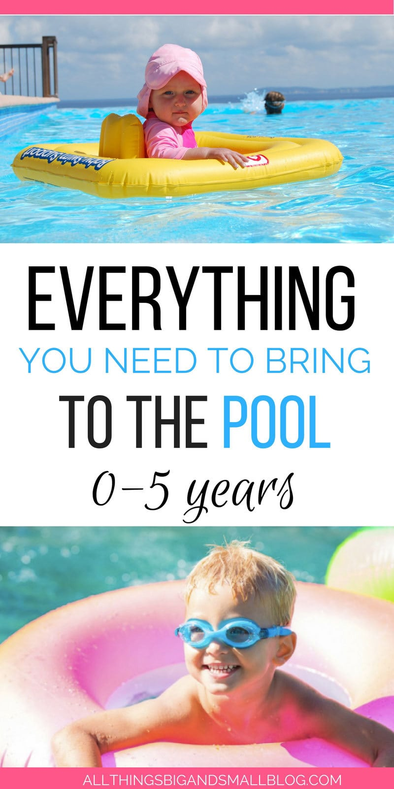 everything you need to bring and what to skip for going to the pool with kids | ALL THINGS BIG AND SMALL