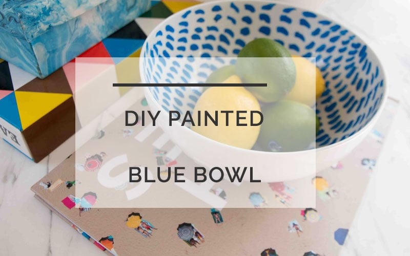 diy blue and white bowl