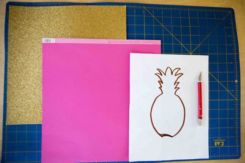 diy pineapple art- All Things Big and Small Blog