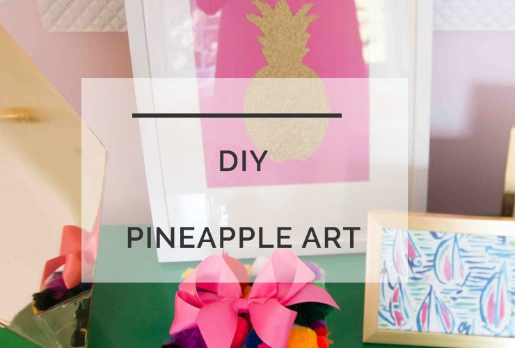 DIY Pineapple Art