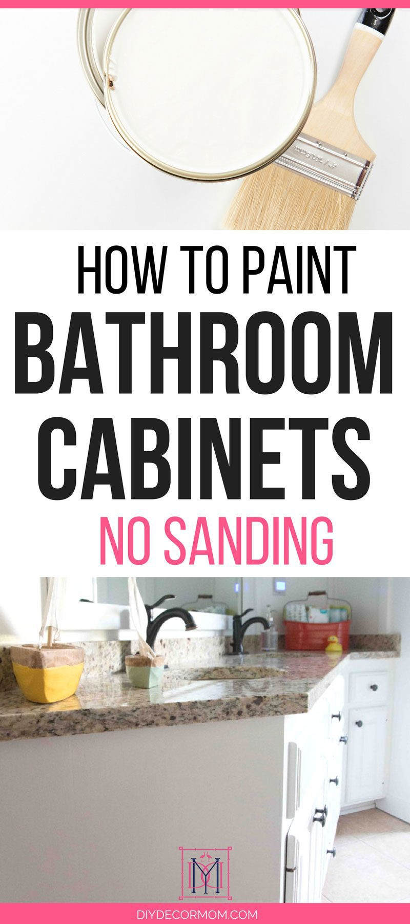 How To Paint Bathroom Cabinets Why You Shouldn T Sand