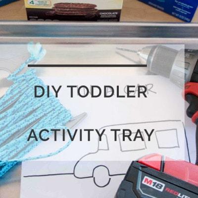 diy activity board tray