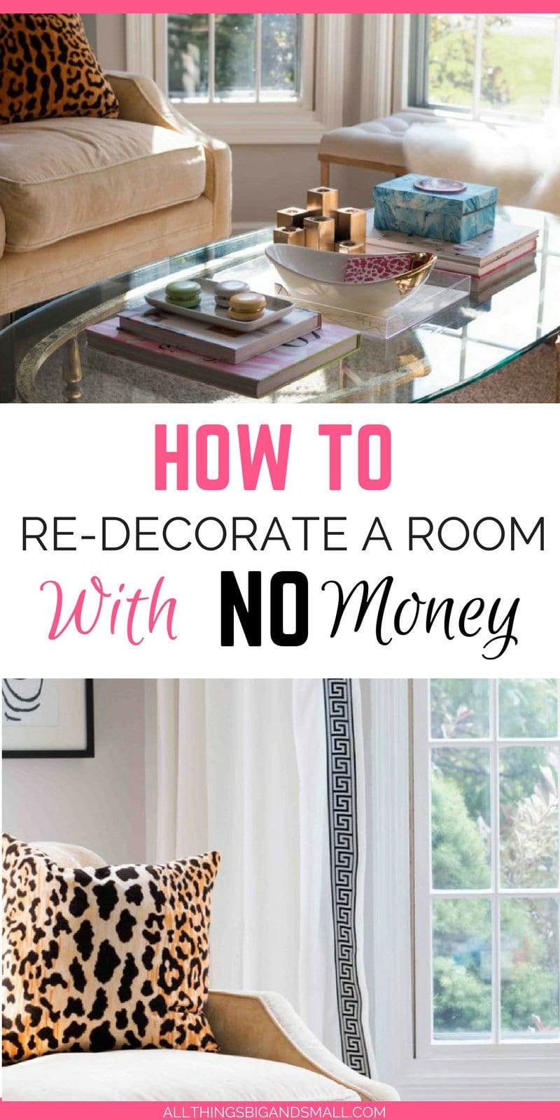 How to Decorate a Room with No Money -- Room Design and Layout tips ALL THINGS BIG AND SMALL - Room Design Layout: How to Fix a Room Without Spending Money by popular home decor blogger DIY Decor Mom