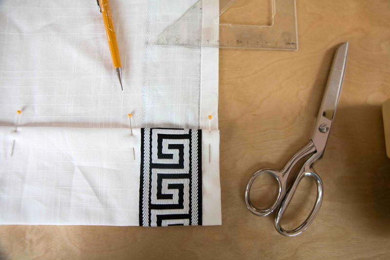DIY Greek Key Curtains | DIY Greek Key | Budget Friendly Greek Key | All Things Big and Small Blog