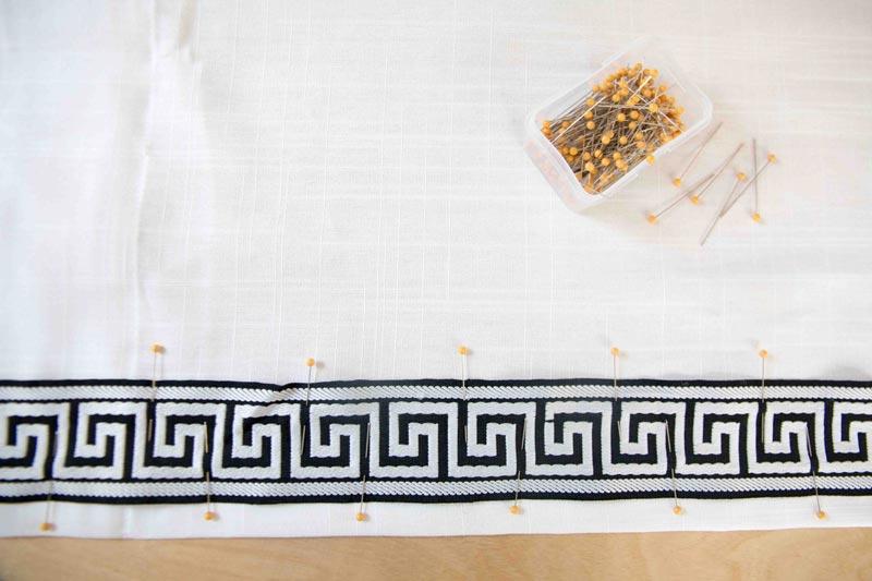 DIY Greek Key Curtains | DIY Greek Key Trim | Budget Friendly Greek Key | All Things Big and Small Blog