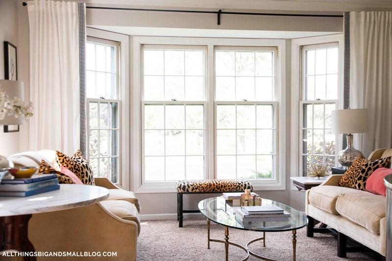 DIY Greek Key Curtains | Greek Key Trim | Budget Curtains | All Things Big and Small Blog - DIY Greek Key Curtains by popular home decor blogger DIY Decor Mom