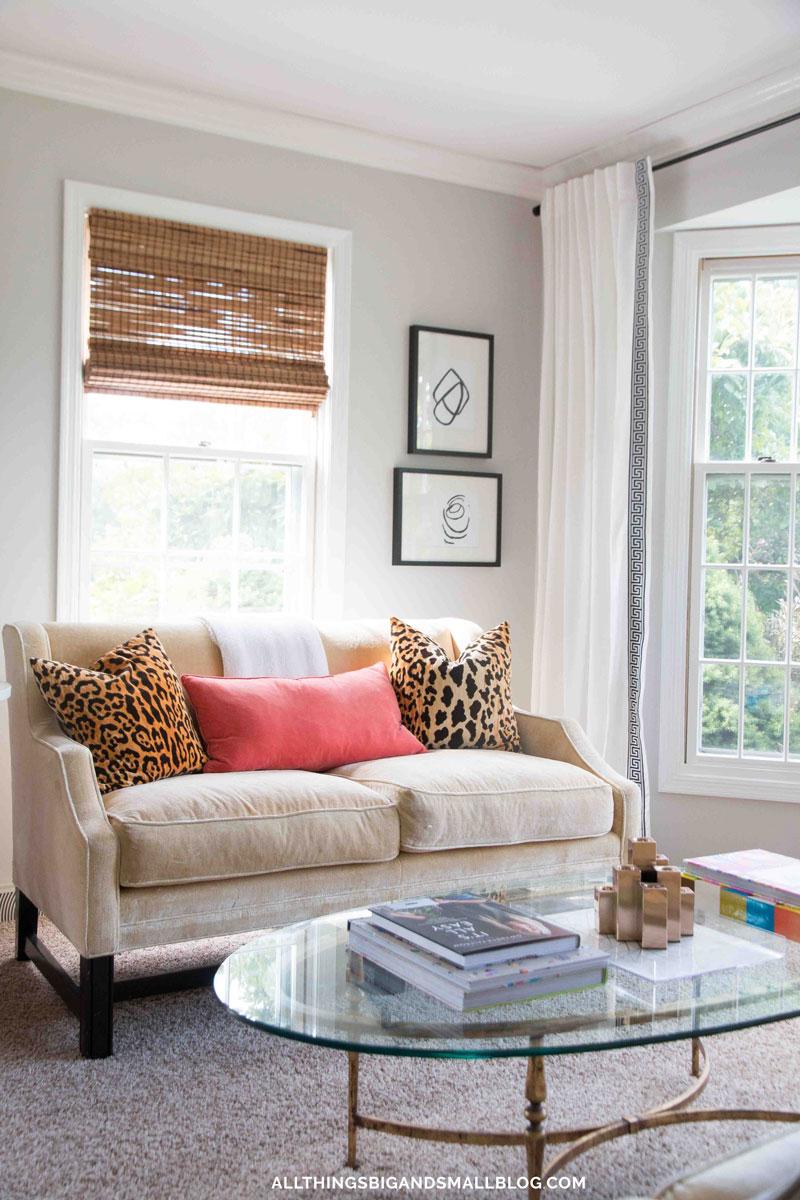 DIY Greek Key Curtains | Budget Friendly Greek Key | All Things Big and Small Blog - DIY Greek Key Curtains by popular home decor blogger DIY Decor Mom