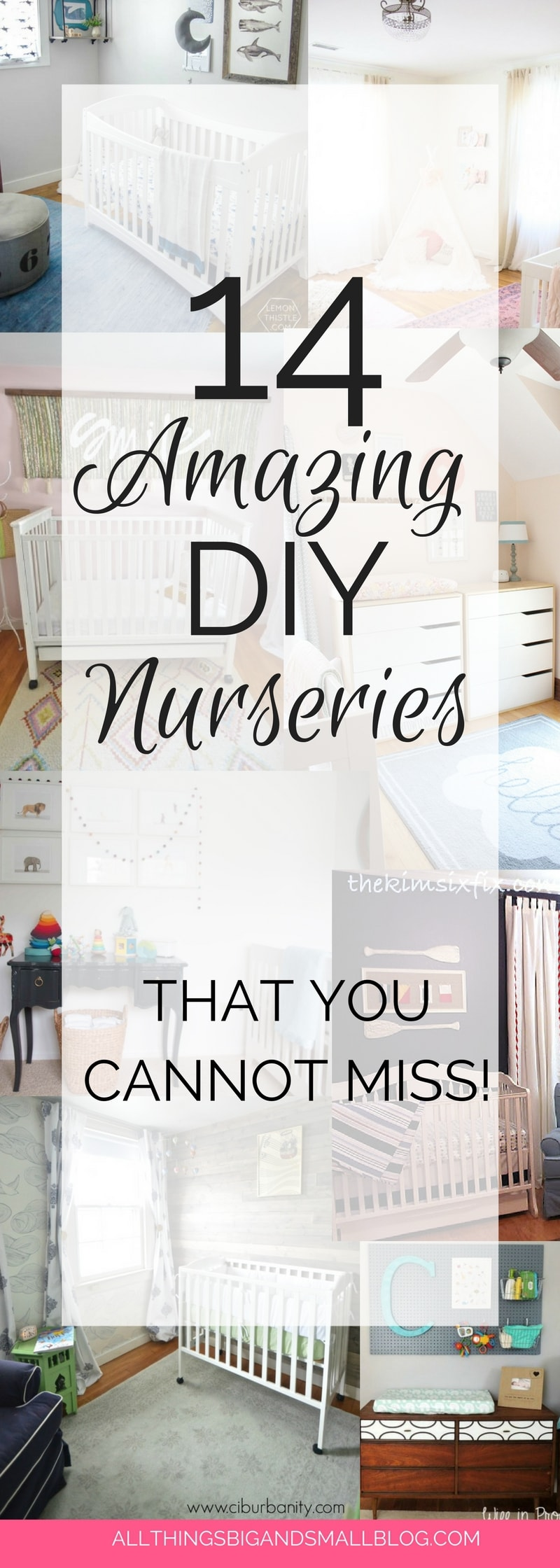 Nursery Ideas You Have to See | DIY Nurseries that budget-friendly nursery ideas for your baby room! Round up by ALL THINGS BIG AND SMALL